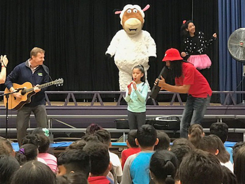 Perry The Sheep Visits District Elementary Students