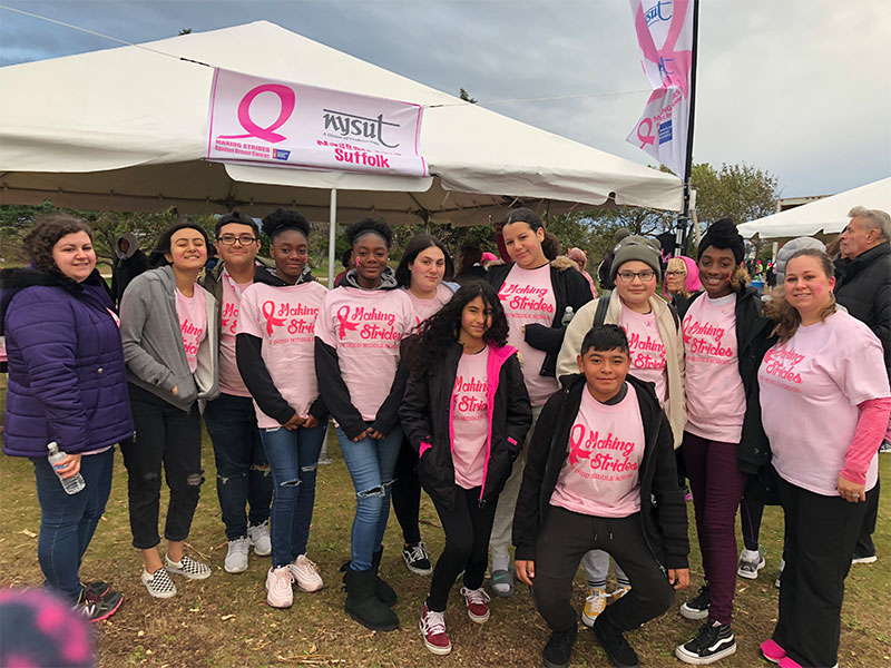 Students make strides in breast cancer awareness
