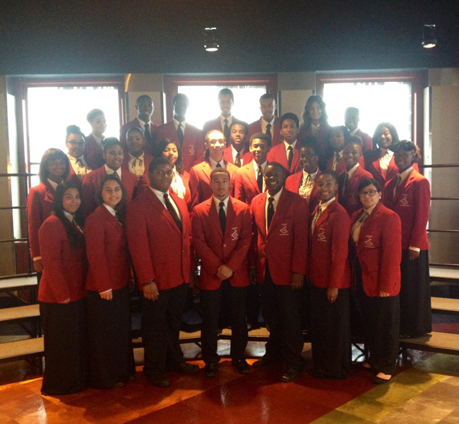 HS Select Chorale performs at Empire State Building