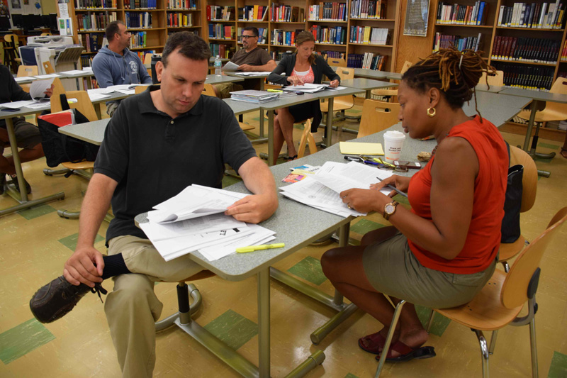 Staff gathers for superintendent's conference day
