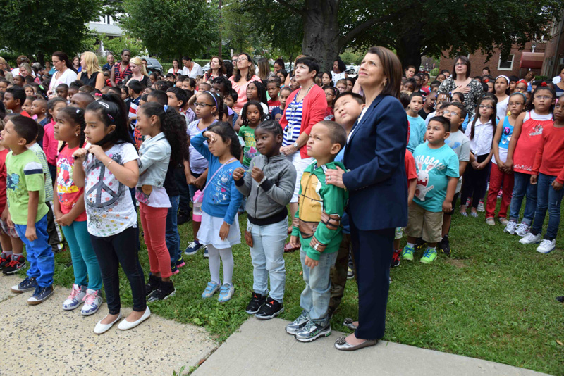 Archer Street School shows American pride on 9/11