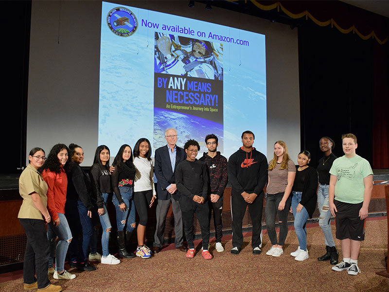 Space Explorer Visits High School