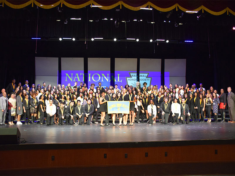 High School Honors National Honor Society Inductees