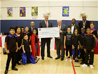 District Presented With $125K Check photo
