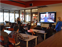 Dodd Students Learn the Value of Videoconferencing photo