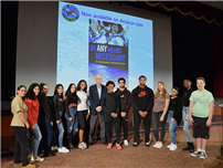 Space Explorer Visits High School photo
