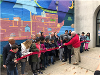 New Visions Helps Unveil Mural